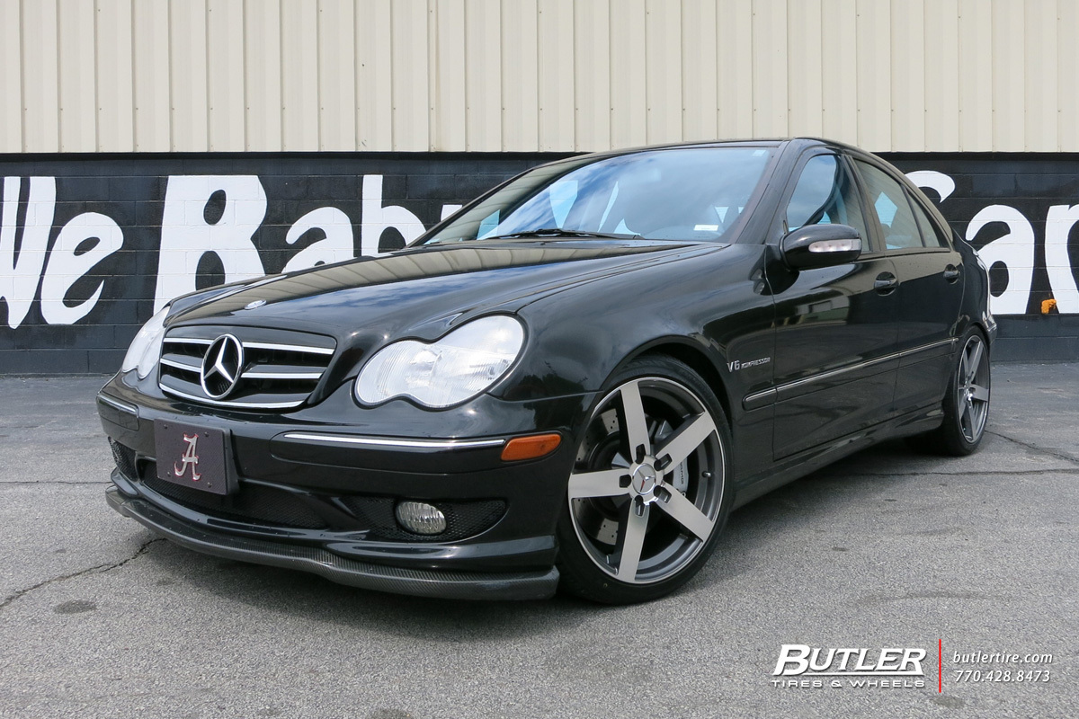 Mercedes C-Class with 18in Mandrus Arrow Wheels
