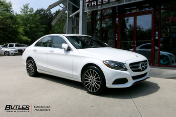 Mercedes C-Class with 18in TSW Chicane Wheels