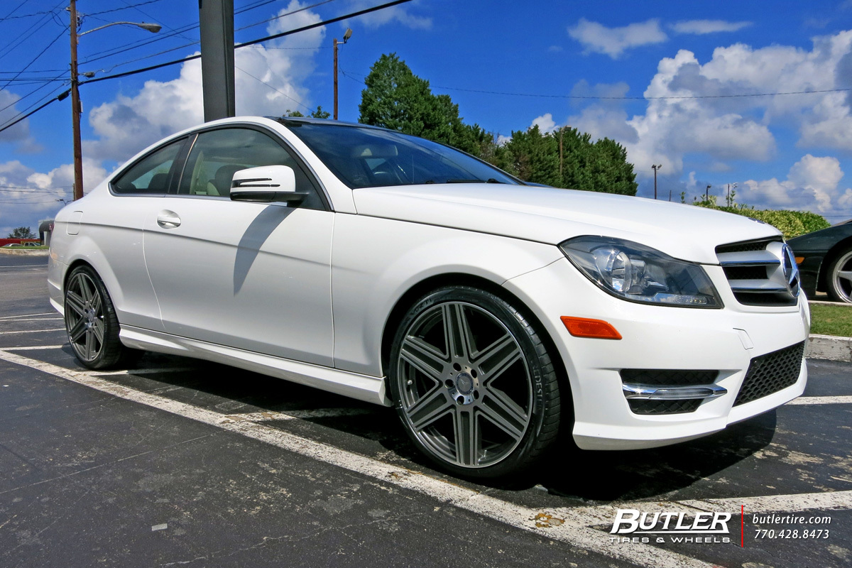 Mercedes C-Class with 19in Mandrus Atlas Wheels