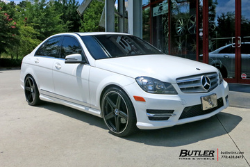 Mercedes C-Class with 19in Mandrus Estrella Wheels