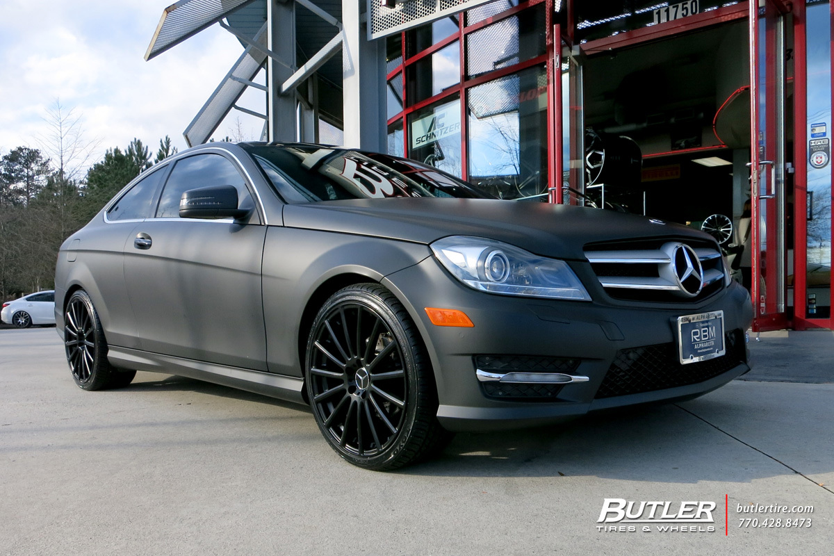 Mercedes C-Class with 19in Mandrus Rotec Wheels