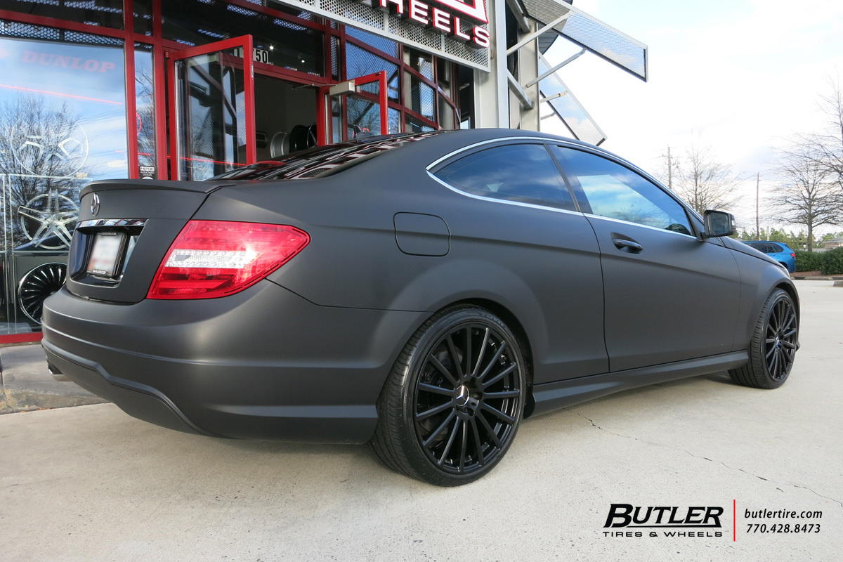 Mercedes c class with 19in mandrus rotec wheels for Mercedes benz c300 tire size