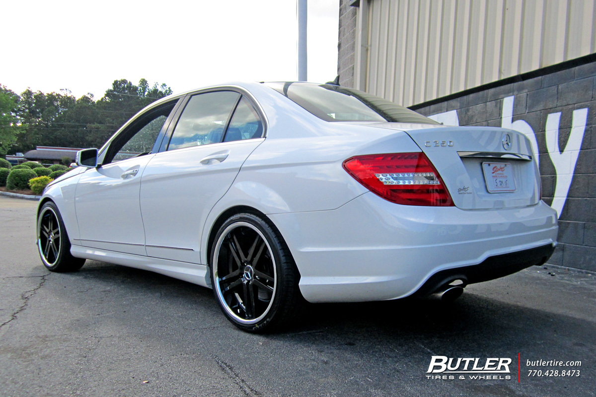 Mercedes C-Class with 19in Mandrus Simplex Wheels