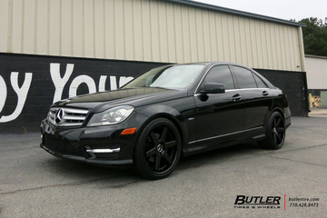 Mercedes C-Class with 19in Niche Altair Wheels