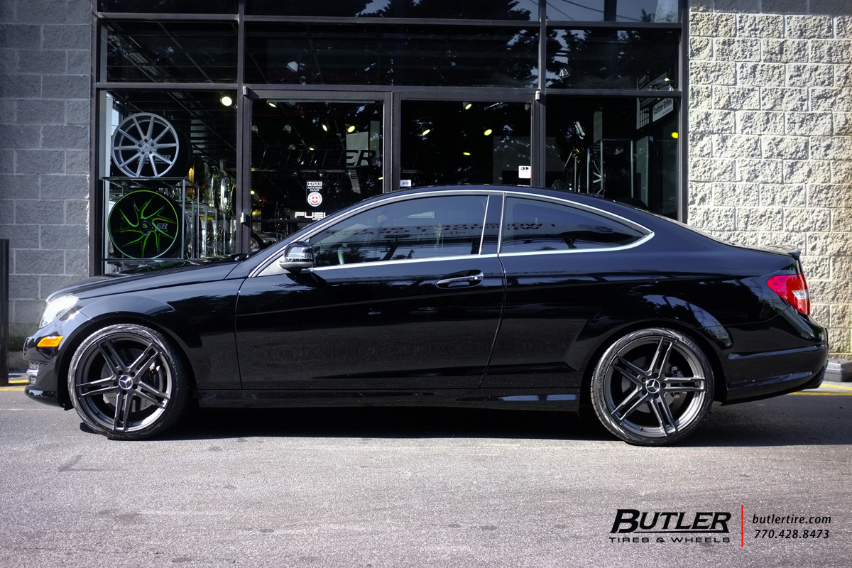 Mercedes c class with 19in tsw mechanica wheels for Mercedes benz c300 tire size