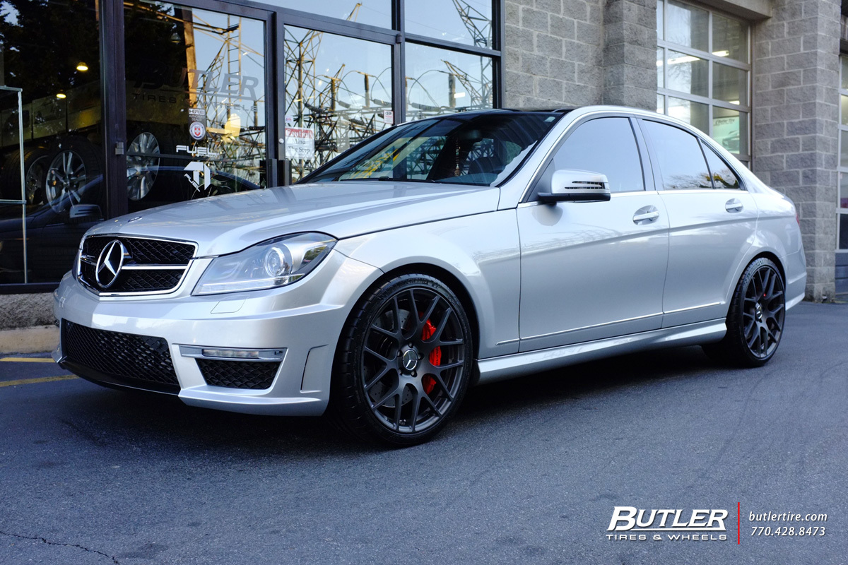 Mercedes c class with 19in tsw nurburgring wheels for Mercedes benz c300 tire size