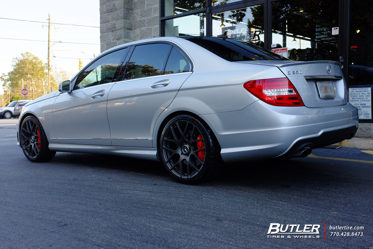 Mercedes C-Class with 19in TSW Nurburgring Wheels
