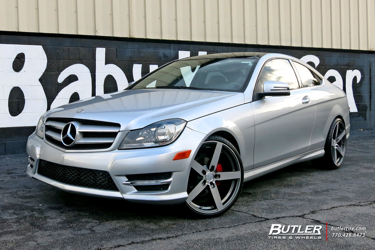 Mercedes C-Class with 20in Mandrus Arrow Wheels