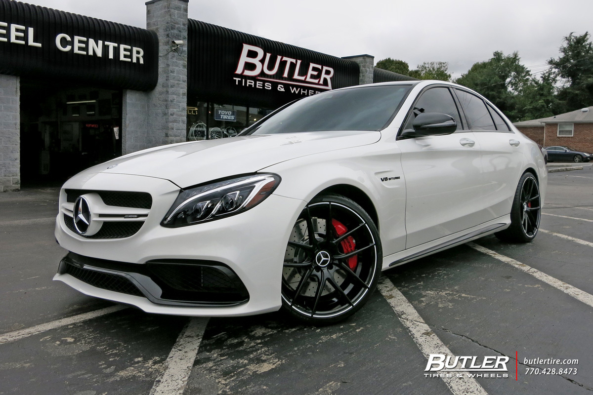 Mercedes C Class With 20in Niche Targa Wheels Exclusively