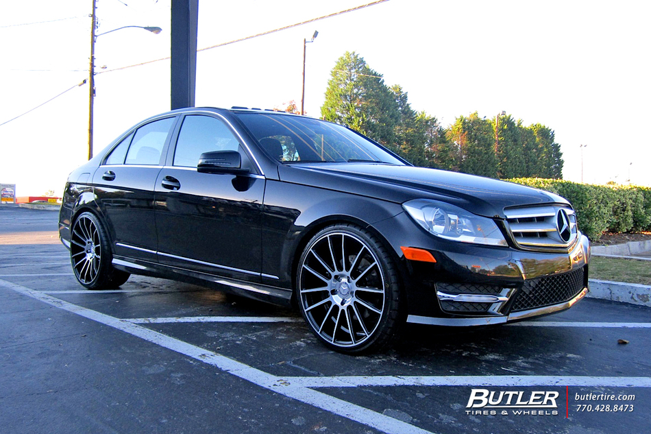 Mercedes c class with 20in savini bm9 wheels exclusively for Mercedes benz tire inflator