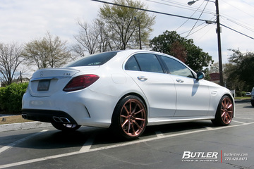 Mercedes C-Class with 20in Savini SV-F4 Wheels