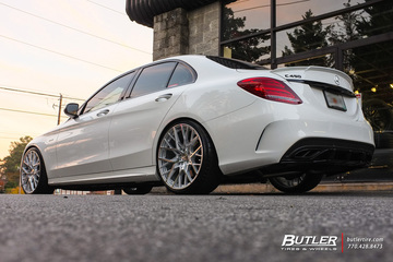 Mercedes C-Class with 20in TSW Sebring Wheels