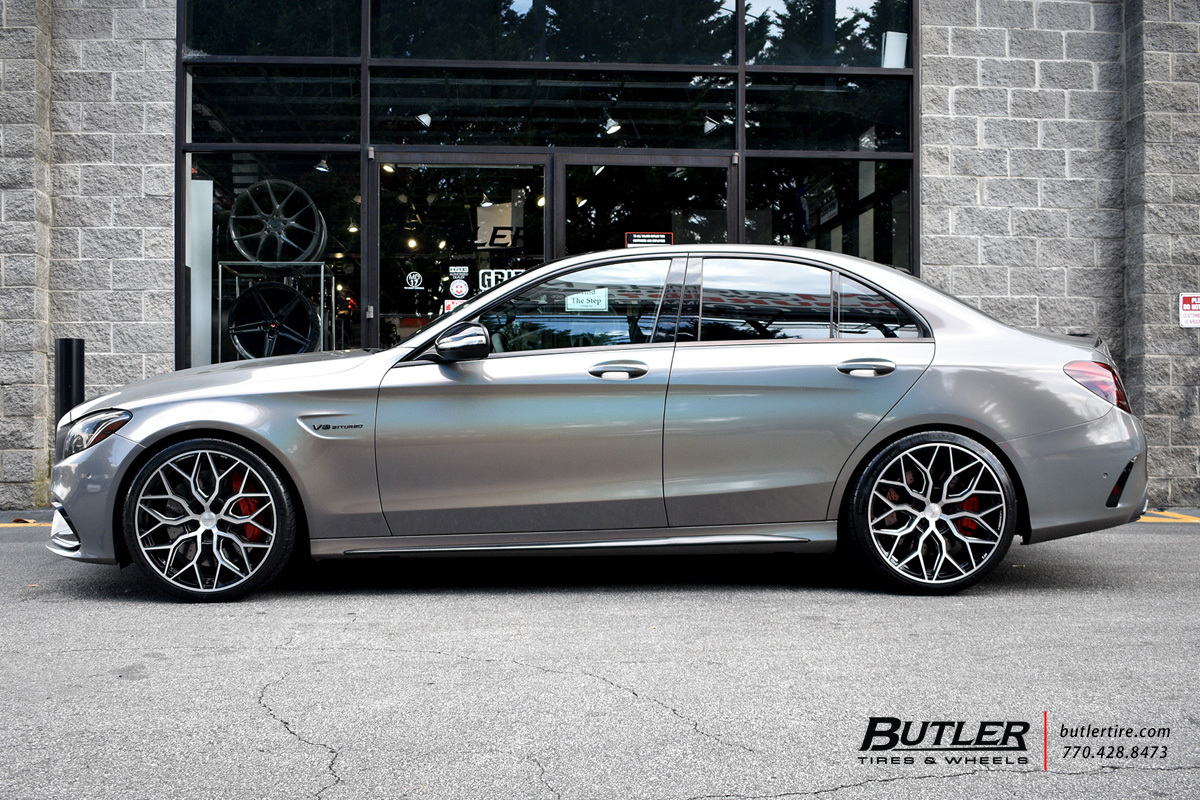 Mercedes C-Class with 20in Vossen HF-2 Wheels