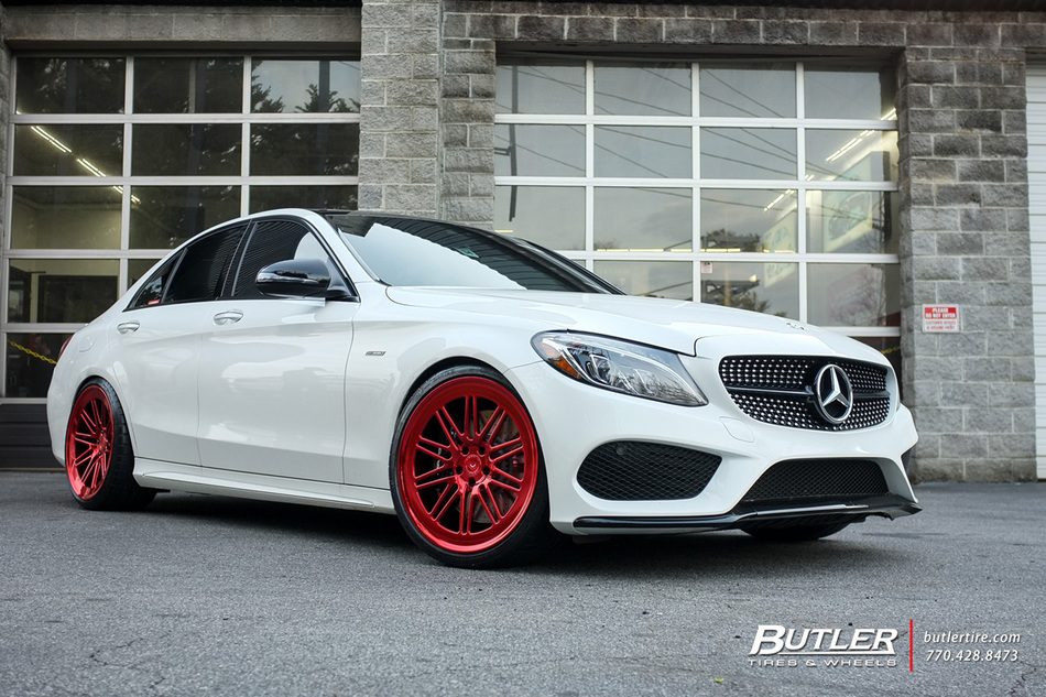 Mercedes C-Class with 20in Vossen LC-107 Wheels exclusively from Butler Tires and Wheels in ...