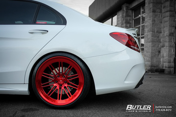 Mercedes C-Class with 20in Vossen LC-107 Wheels