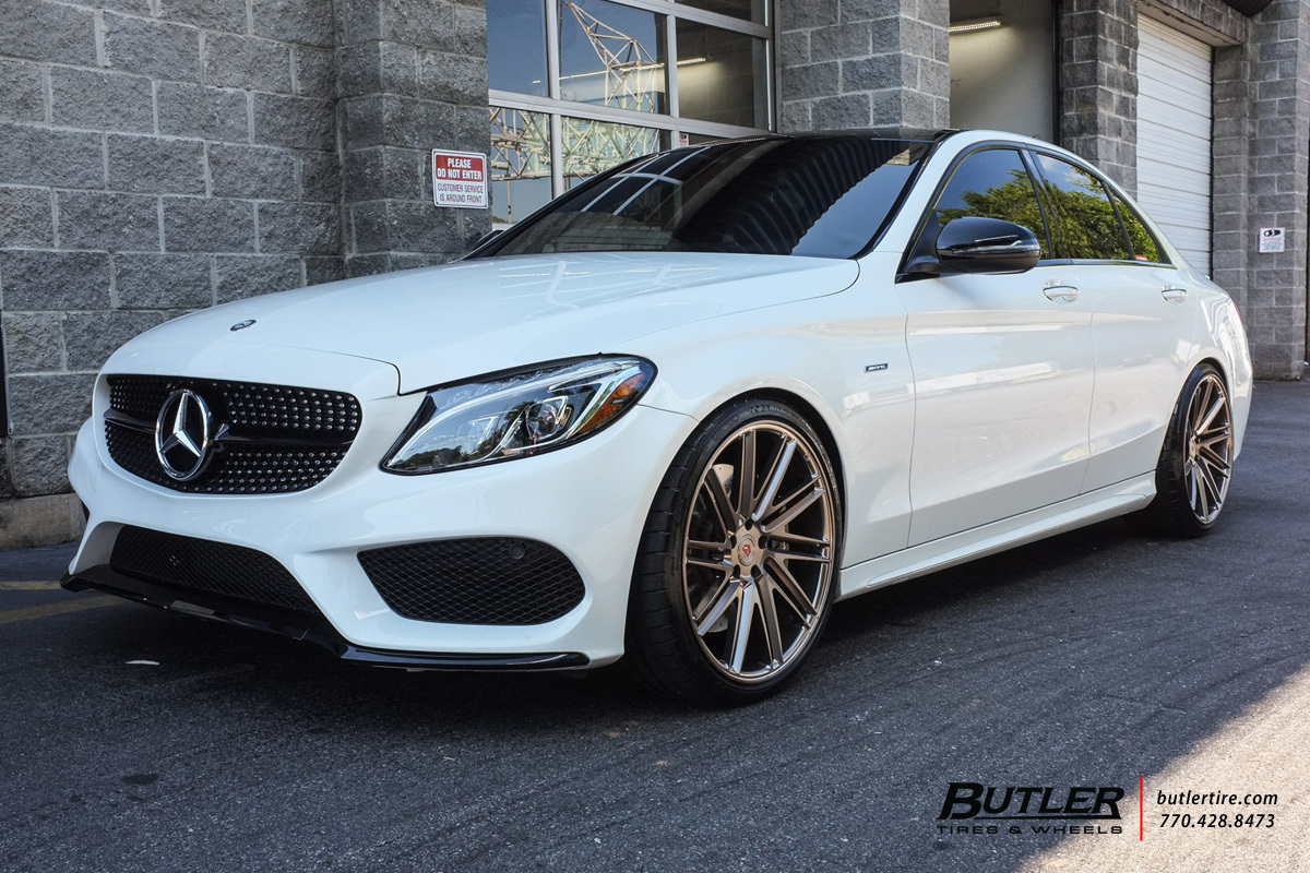 Mercedes C Class With 20in Vossen Vps 307t Wheels Exclusively From