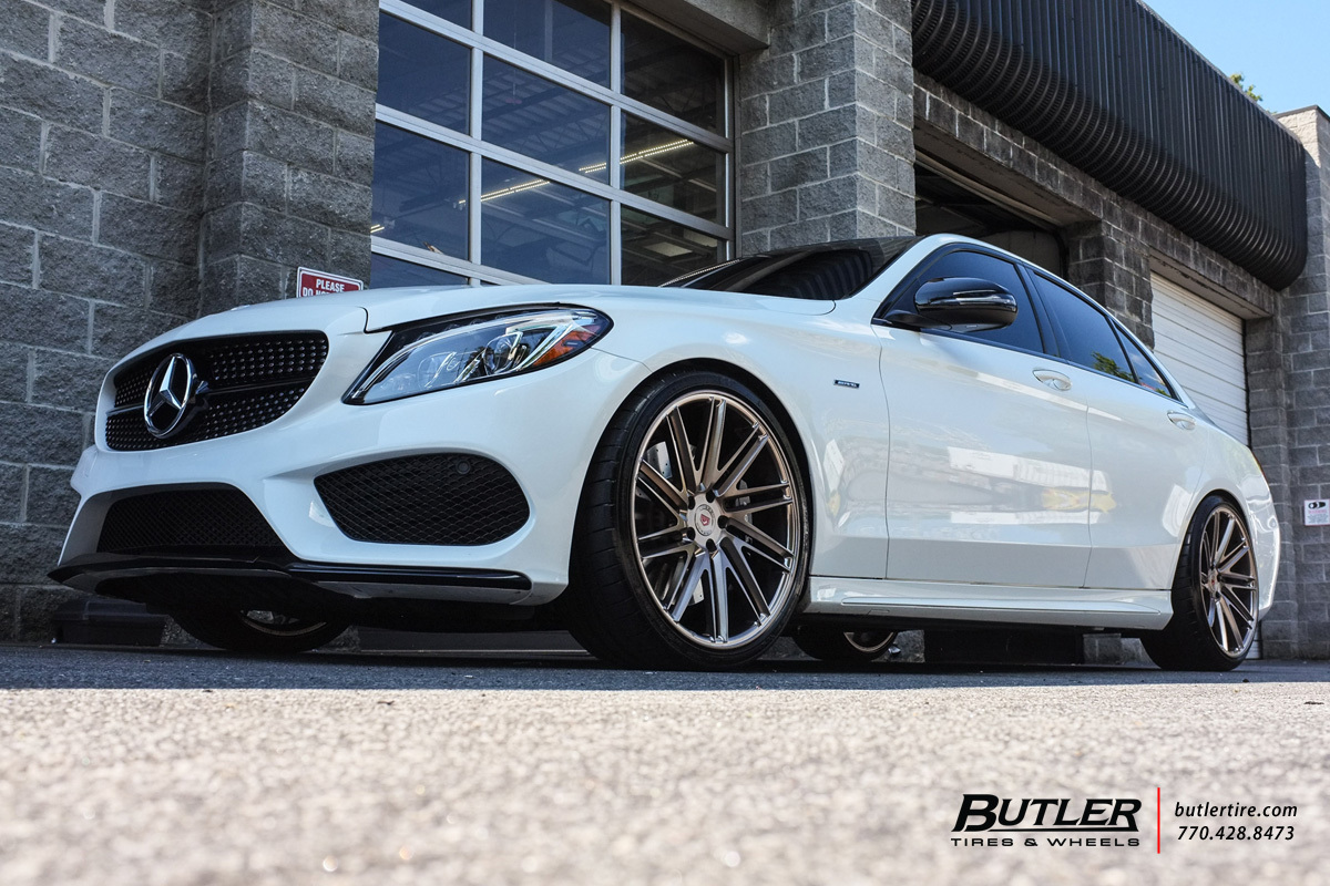 Mercedes C-Class with 20in Vossen VPS-307T Wheels