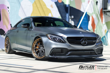 Mercedes C-Class with 21in Avant Garde AGL43 Wheels