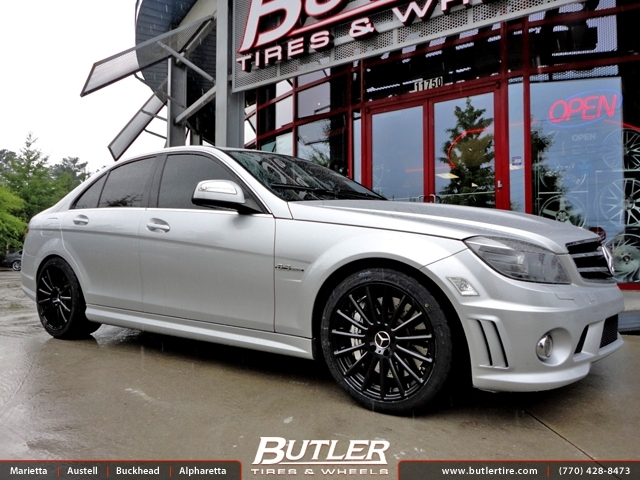 Mercedes C-Class with 18in Mandrus Rotec Wheels