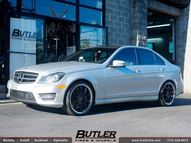 mercedes c class with 19in mandrus mannheim wheels exclusively from butler tires and wheels in. Black Bedroom Furniture Sets. Home Design Ideas