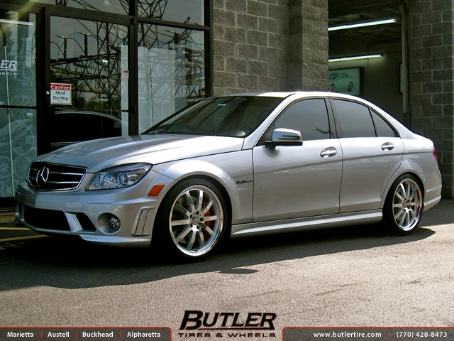 Mercedes C-Class with 19in Mandrus Wilhelm Wheels