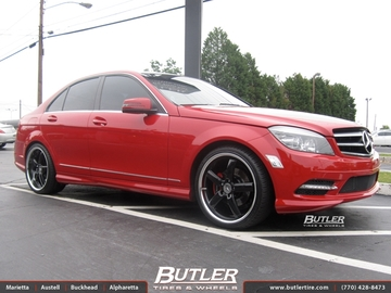 Mercedes C-Class with 19in TSW Stowe Wheels