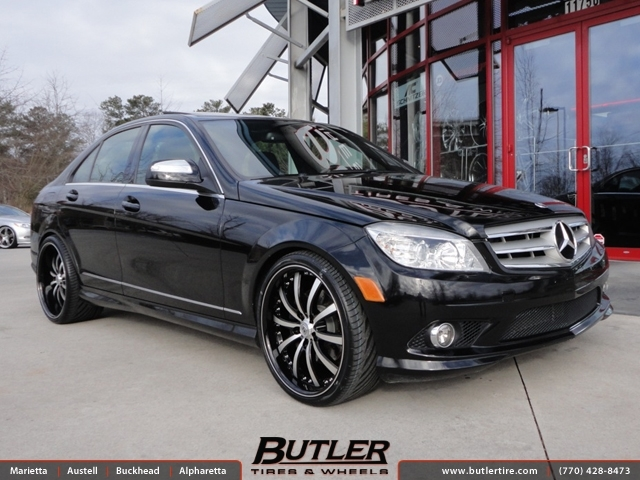 Mercedes c class with 20in lexani lss10 wheels exclusively for Mercedes benz tire inflator