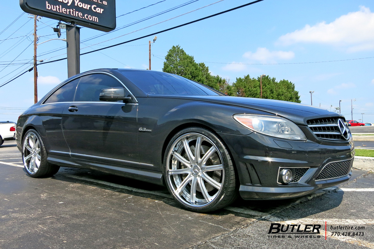 Mercedes CL-Class with 22in Lexani LF709 Wheels