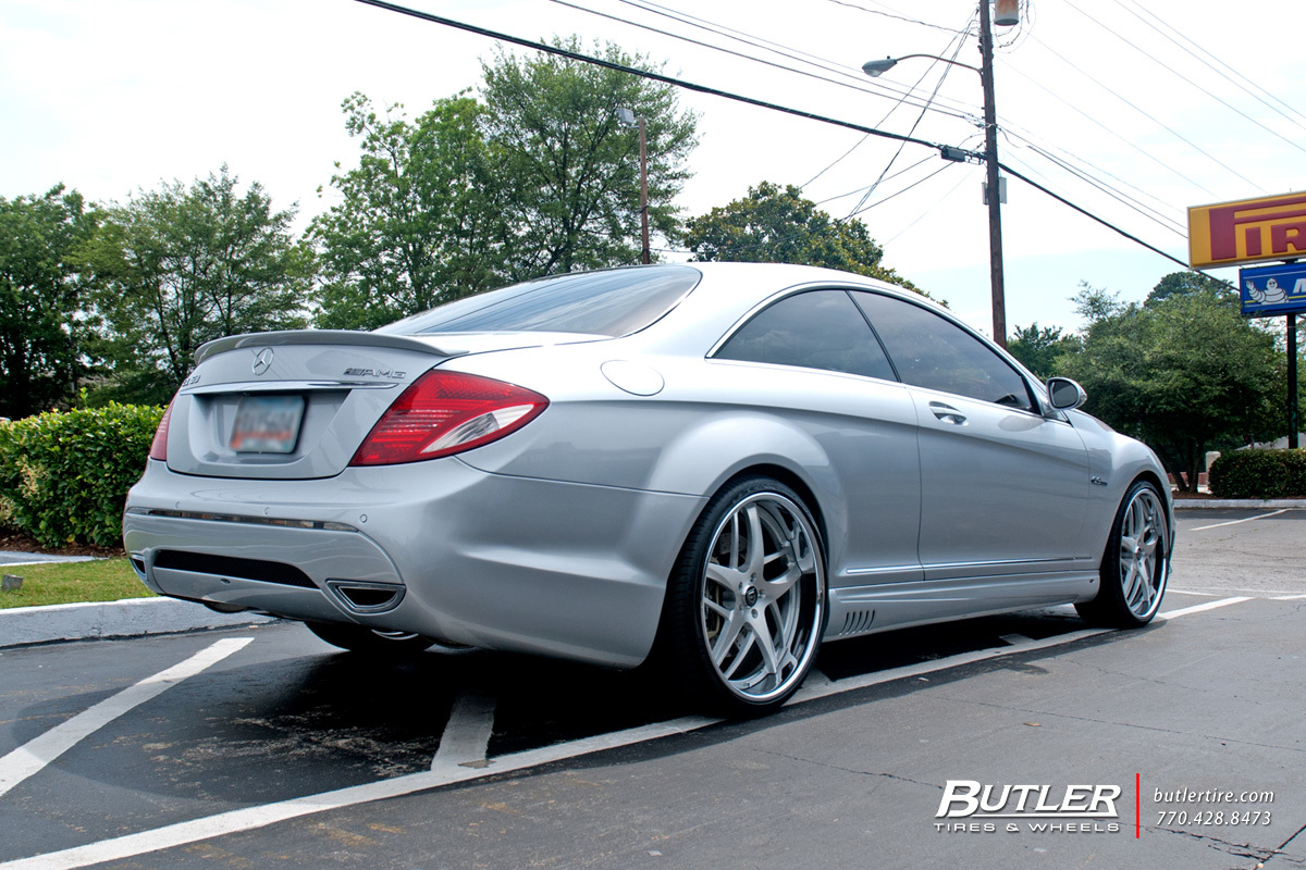 Mercedes CL-Class with 22in Lexani LF746 Wheels