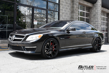 Mercedes CL-Class with 22in Savini SV-F 4 Wheels