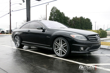 Mercedes CL-Class with 22in TSW Rouen Wheels