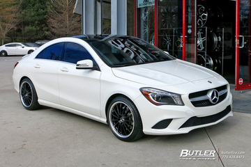Mercedes CLA with 18in Mandrus Millenium Wheels