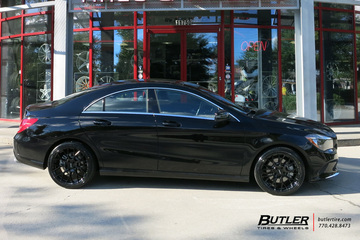 Mercedes CLA with 18in Petrol P2B Wheels