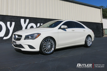 Mercedes CLA with 19in Mandrus Wilhelm Wheels