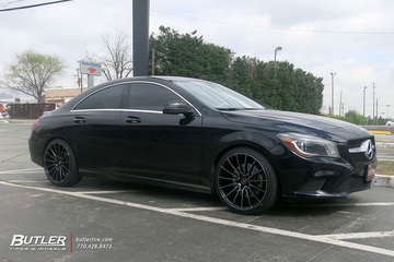 Mercedes CLA with 19in Savini BM16 Wheels