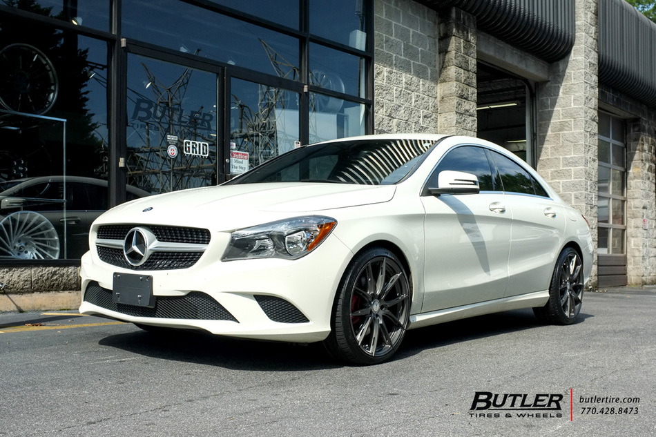 Mercedes CLA with 19in TSW Sprint Wheels exclusively from Butler Tires and Wheels in Atlanta, GA ...