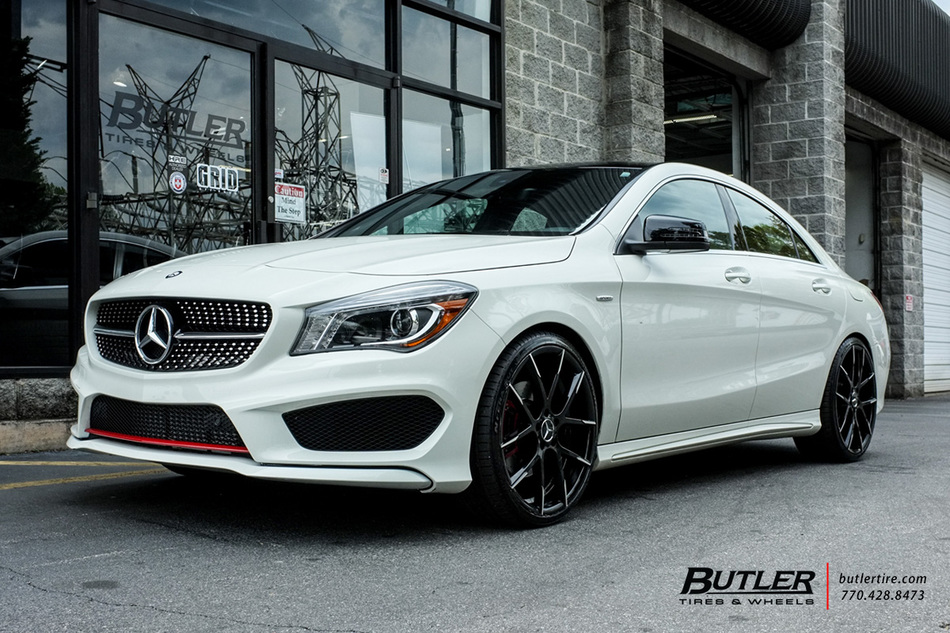 Mercedes CLA with 20in Lexani Stuttgart Wheels exclusively ...