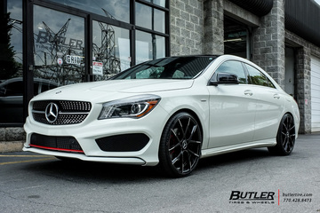 Mercedes CLA with 20in Lexani Stuttgart Wheels