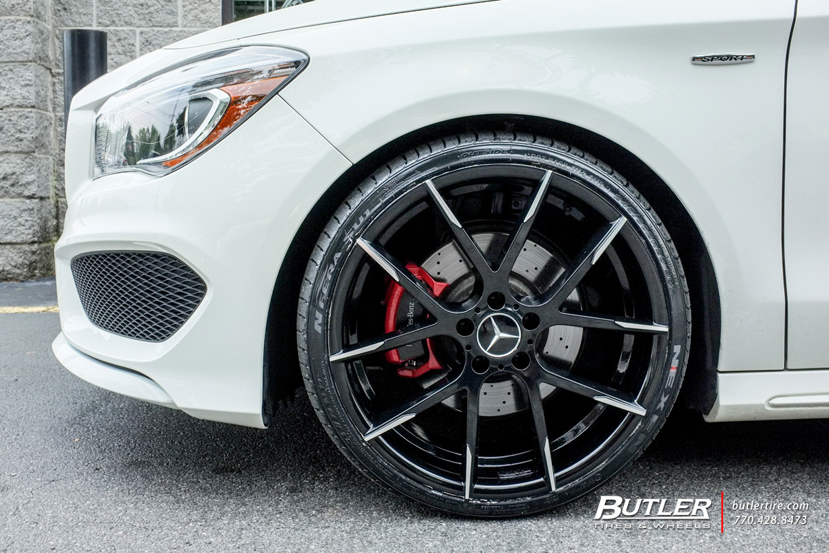 Mercedes cla with 20in lexani stuttgart wheels exclusively for Mercedes benz tire inflator