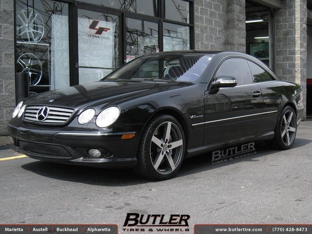 Mercedes CL-Class with 19in Mandrus Arrow Wheels