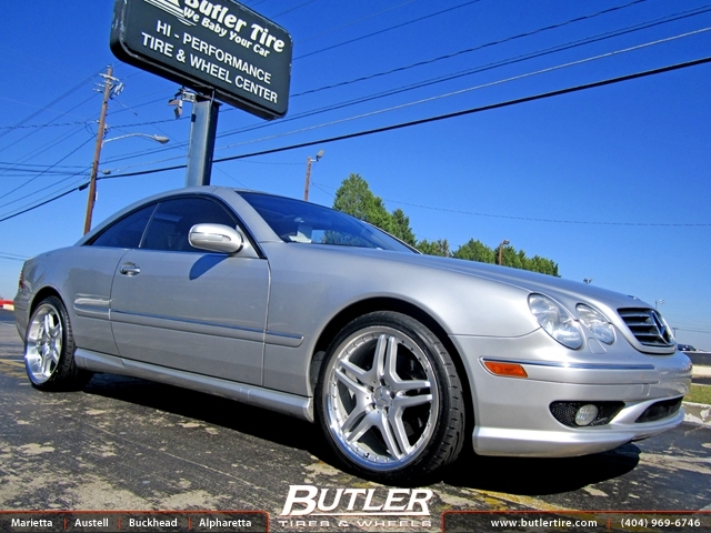 Mercedes CL-Class with 20in TSW Bremma Wheels