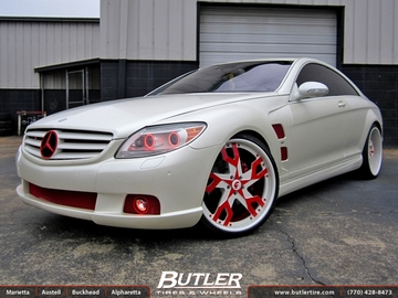 Mercedes CL-Class with 22in Forgiato Basamento Wheels
