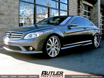 Mercedes CL-Class with 22in Forgiato Concavo Wheels