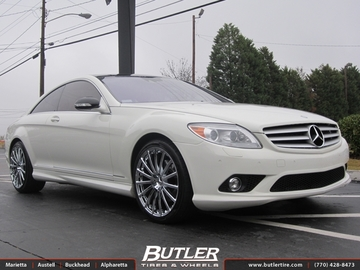 Mercedes CL-Class with 22in Mandrus Rotec Wheels