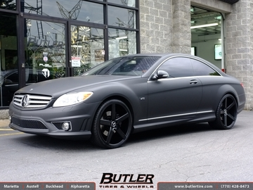Mercedes CL-Class with 22in Niche Milan Wheels