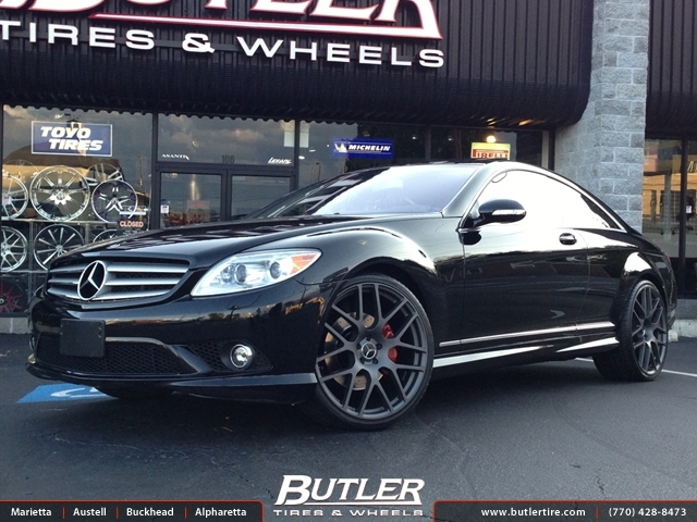 Mercedes CL-Class with 22in TSW Nurburgring Wheels