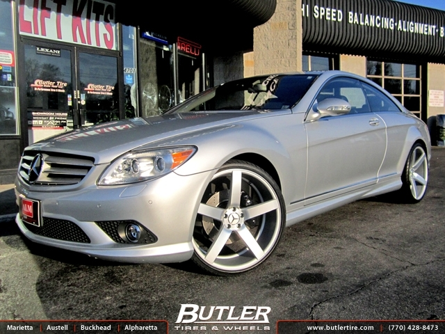 Mercedes CL-Class with 22in Vossen CV3 Wheels