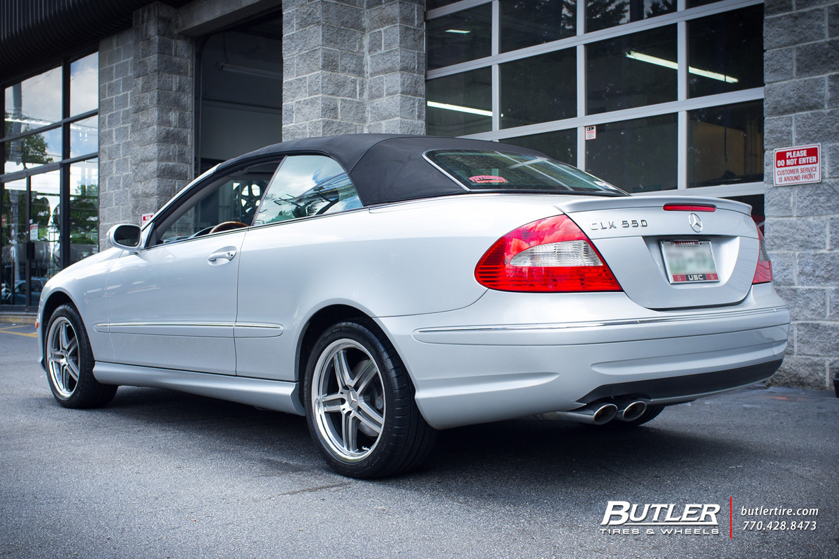 Mercedes CLK with 17in Mandrus Mannheim Wheels