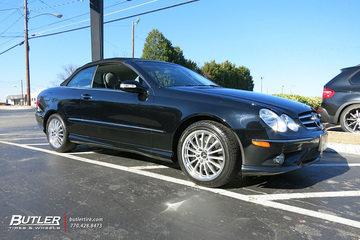 Mercedes CLK with 18in Mandrus Millenium Wheels