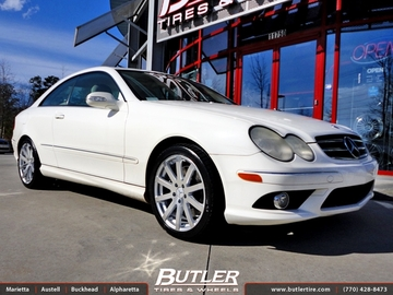 Mercedes CLK with 18in TSW Brooklands Wheels